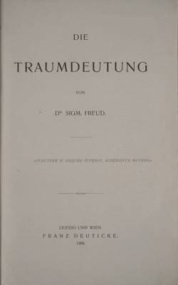 Cover of Freud's book on dreams
